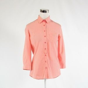 Salmon pink LACOSTE button down blouse FR36 6